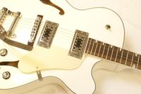 Diamonds Jazz/Archtop/Rockabilly Gitarre White inkl. Case Bild 3