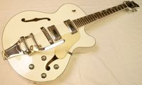 Diamonds Jazz/Archtop/Rockabilly Gitarre White inkl. Case