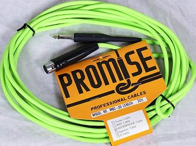 MBC-20 PROMISE Mikrokabel  Klinke auf XLR-Weibl. 5m